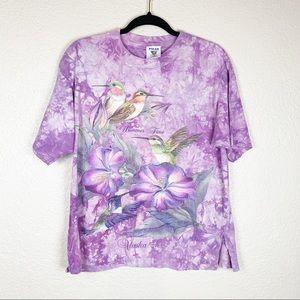 2/12$ Vintage hummingbird tie dye tee